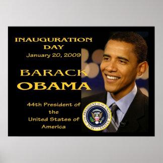 Día de inauguración de presidente Obama conmemorat Póster