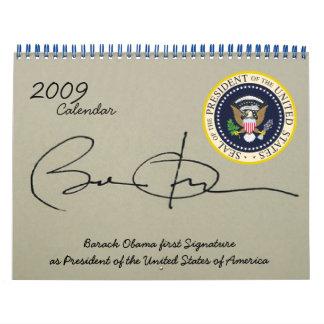 Día de inauguración de presidente Obama en fotos Calendarios