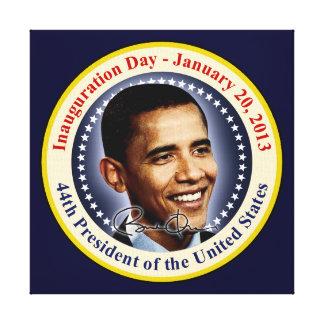 Día de inauguración de presidente Obama Lona Estirada Galerias