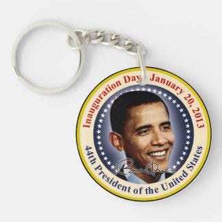 Día de inauguración de presidente Obama Llavero Redondo Acrílico A Doble Cara