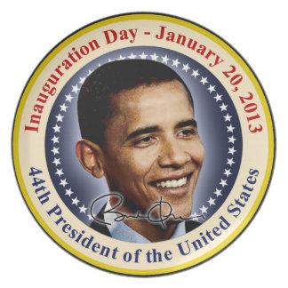 Día de inauguración de presidente Obama Plato