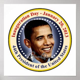 Día de inauguración de presidente Obama Póster