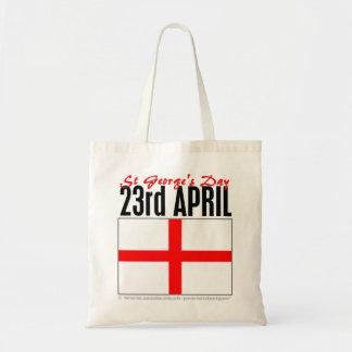Día de Inglaterra, San Jorge Bolsa Tela Barata