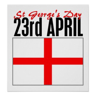 Día de Inglaterra, San Jorge Póster