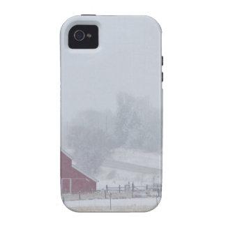 Día de invierno del país Nevado Case-Mate iPhone 4 Carcasa
