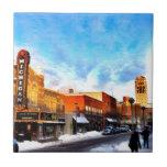 Día de invierno en Ann Arbor Azulejos