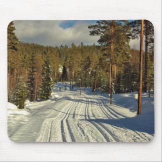 Día de invierno en Suecia Alfombrilla De Ratones