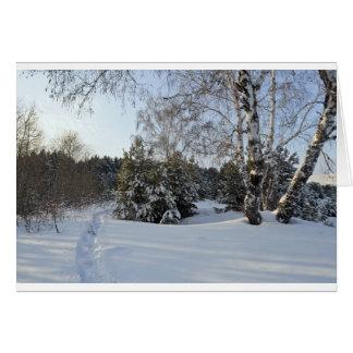 Día de invierno Nevado Felicitacion