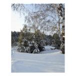 Día de invierno Nevado Plantillas De Membrete