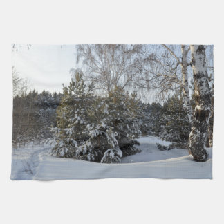 Día de invierno Nevado Toallas De Mano