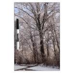 Día de invierno pizarras blancas de calidad