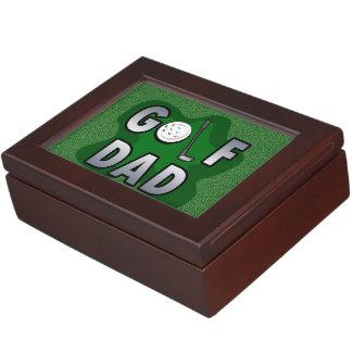 Día de L padre del club del papá del golf Cajas De Recuerdos