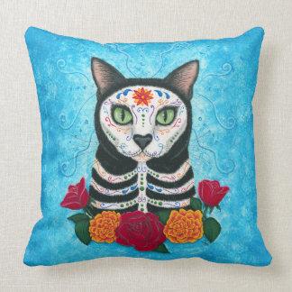 """Día de la almohada de tiro muerta del gato 20"""" x cojín decorativo"""