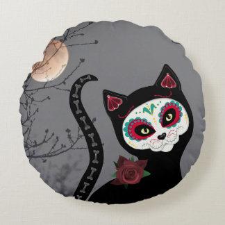 Día de la almohada redonda del gato muerto cojín redondo