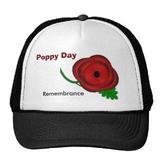 Día de la amapola, casquillo de la conmemoración gorro