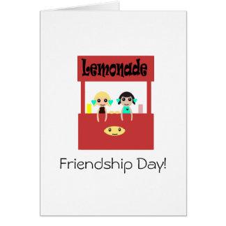 Día de la amistad: Puesto de limonadas Tarjeta