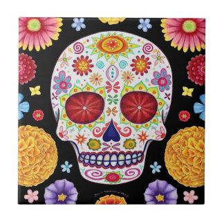 Día de la baldosa cerámica del cráneo muerto del a azulejo