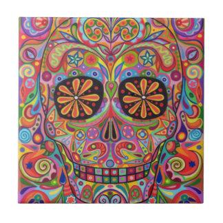 Día de la baldosa cerámica del cráneo muerto del a azulejos cerámicos