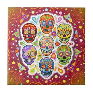 Día de la baldosa cerámica del cráneo muerto del a azulejos ceramicos
