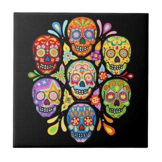 Día de la baldosa cerámica del cráneo muerto del a azulejo cuadrado pequeño