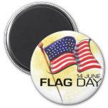 Día de la bandera 14 de junio imán de nevera