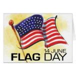 Día de la bandera 14 de junio tarjeton