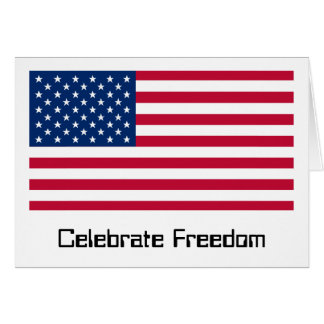 Día de la bandera de los E.E.U.U.: Libertad en roj Tarjeta De Felicitación