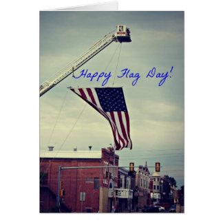Día de la bandera de Washington Iowa Tarjeta