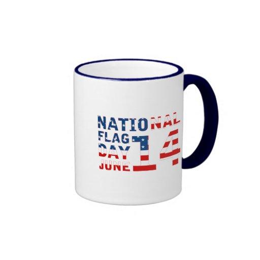 Día de la bandera nacional taza a dos colores
