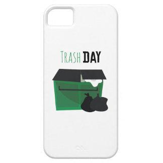 Día de la basura funda para iPhone 5 barely there
