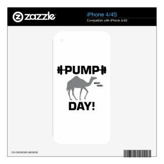 Día de la bomba calcomanías para el iPhone 4S