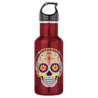 Día de la botella de agua muerta del cráneo del