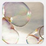 Día de la burbuja calcomanía cuadradas personalizada