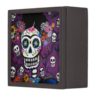 Día de la caja muerta caja de joyas de calidad