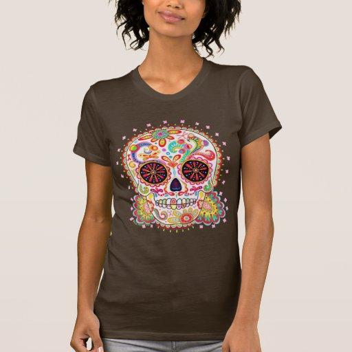 Día de la camisa muerta del cráneo del azúcar