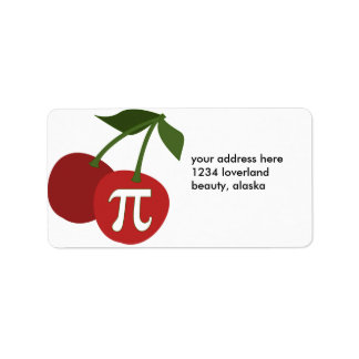 Día de la cereza pi etiqueta de dirección