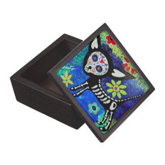 Día de la chihuahua muerta cajas de regalo de calidad