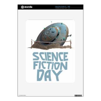 Día de la ciencia ficción - día del aprecio iPad skin