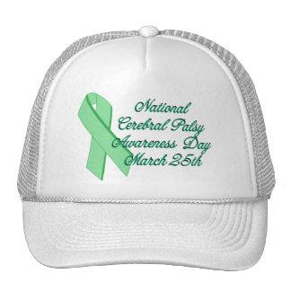 Día de la conciencia de la parálisis cerebral gorras de camionero