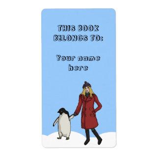 Día de la conciencia del pingüino, etiqueta de etiqueta de envío