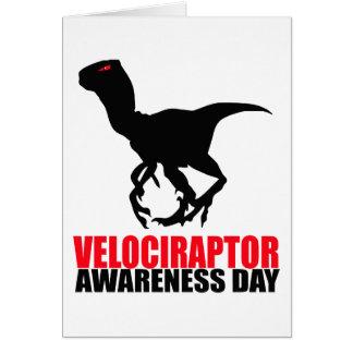 Día de la conciencia del Velociraptor Felicitación