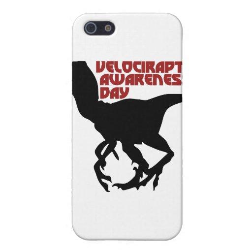 Día de la conciencia del Velociraptor iPhone 5 Fundas