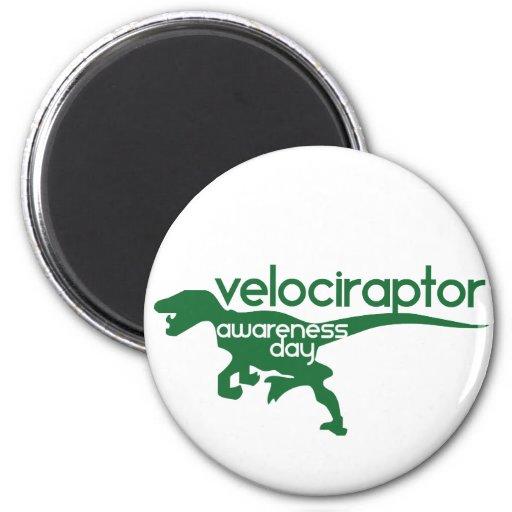 Día de la conciencia del Velociraptor Iman Para Frigorífico