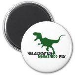 Día de la conciencia del Velociraptor Imán Redondo 5 Cm