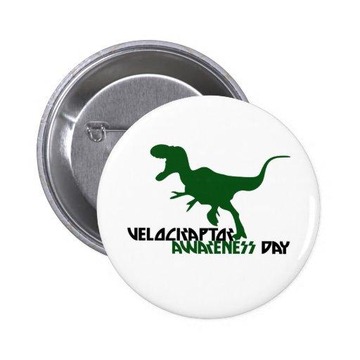 Día de la conciencia del Velociraptor Pin