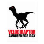 Día de la conciencia del Velociraptor Postales