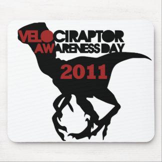 Día de la conciencia del Velociraptor Tapete De Ratones