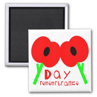 Día de la conmemoración, día de armisticio o día d imán cuadrado