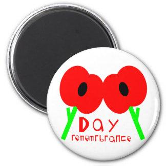 Día de la conmemoración, día de armisticio o día d imán redondo 5 cm