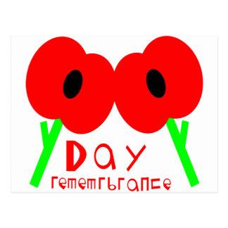 Día de la conmemoración, día de armisticio o día d postal